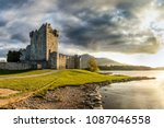 beautiful ancient castle at a... | Shutterstock . vector #1087046558