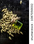 raw organic green cardamom or... | Shutterstock . vector #1087050032