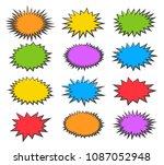 starburst bubbles. vector boom... | Shutterstock .eps vector #1087052948