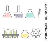 cute cartoon set of chemical...   Shutterstock .eps vector #1087056845