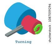 turning metalwork icon.... | Shutterstock . vector #1087059296