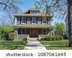 gray brick craftsman style... | Shutterstock . vector #1087061645