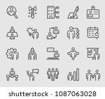 line icons set for human... | Shutterstock .eps vector #1087063028