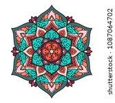 mandala. ethnic decorative...   Shutterstock .eps vector #1087064702