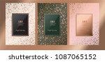 luxury premium menu design... | Shutterstock .eps vector #1087065152