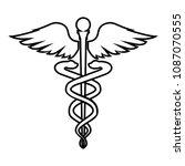 caduceus health symbol...   Shutterstock .eps vector #1087070555