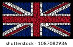 great britain flag pattern... | Shutterstock .eps vector #1087082936