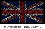 uk state flag concept organized ... | Shutterstock .eps vector #1087082942