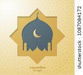 ramadan kareem vector... | Shutterstock .eps vector #1087084172