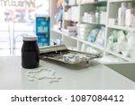 drug prescription for treatment ...   Shutterstock . vector #1087084412