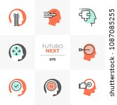 modern flat icons set of... | Shutterstock .eps vector #1087085255
