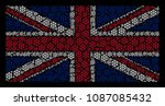 united kingdom state flag... | Shutterstock .eps vector #1087085432