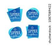 season sale  water vector... | Shutterstock .eps vector #1087089422