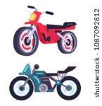 modern sportive motorbikes in...   Shutterstock .eps vector #1087092812