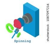 spinning metalwork icon.... | Shutterstock . vector #1087097216