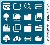 interface related set of 16... | Shutterstock .eps vector #1087102196