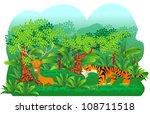 Vector Illustration Of A Tiger ...