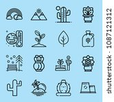 outline nature icon set such as ... | Shutterstock .eps vector #1087121312