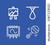 tools related set of 4 icons... | Shutterstock .eps vector #1087125032