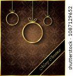 merry christmas background for... | Shutterstock .eps vector #1087129652