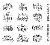 hand drawn lettering set. have... | Shutterstock .eps vector #1087132145