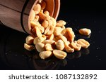 A Peanut On A Dark Background...