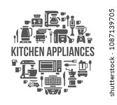 kitchen small appliances... | Shutterstock .eps vector #1087139705