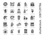 coffee making equipment flat... | Shutterstock .eps vector #1087139786