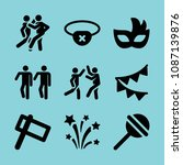 filled party icon set such as... | Shutterstock .eps vector #1087139876