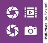 filled photography icon set... | Shutterstock .eps vector #1087141706