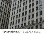 closeup a lot of glass windows... | Shutterstock . vector #1087144118