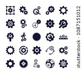 set of 25 cogwheel filled icons ... | Shutterstock .eps vector #1087151012