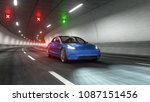modern electric car rides...   Shutterstock . vector #1087151456