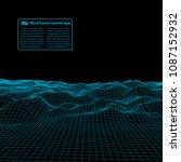 wireframe landscape wire.... | Shutterstock .eps vector #1087152932