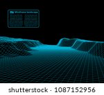 wireframe landscape wire.... | Shutterstock .eps vector #1087152956