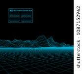 wireframe landscape wire.... | Shutterstock .eps vector #1087152962