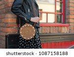 detail of young beautiful woman ...   Shutterstock . vector #1087158188