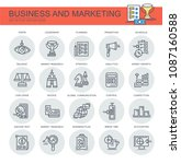 business and marketing. set of... | Shutterstock .eps vector #1087160588