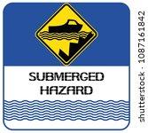 submerged hazards. information...   Shutterstock .eps vector #1087161842