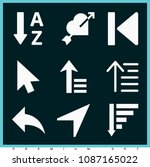set of 9 arrow filled icons...   Shutterstock .eps vector #1087165022