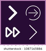 set of 4 next outline icons... | Shutterstock .eps vector #1087165886
