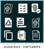 set of 9 document filled icons... | Shutterstock .eps vector #1087168496