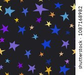 dark blue violet yellow stars... | Shutterstock .eps vector #1087168982