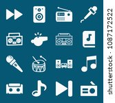 Set Of 16 Music Filled Icons...