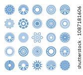 design elements set. abstract...   Shutterstock .eps vector #1087181606