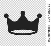 crown diadem vector icon in... | Shutterstock .eps vector #1087183712