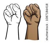 hand fist vector illustration | Shutterstock .eps vector #1087186418