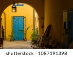 traditional colorful cuban... | Shutterstock . vector #1087191398