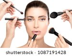 beauty and cosmetics concept...   Shutterstock . vector #1087191428