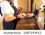 woman buying tickets to visit... | Shutterstock . vector #1087193912